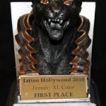 Tattoo Hollywood 2010- 1st place Best Female XL Color
