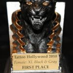 Tattoo Hollywood 2010- 1st place Female XL Black & Gray